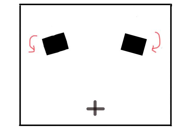 モニター位置(打ち振り)