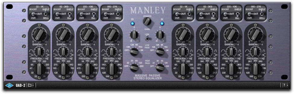 劇的に重いUADのManley-PassiveEQ
